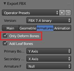Deform Boneだけを出力