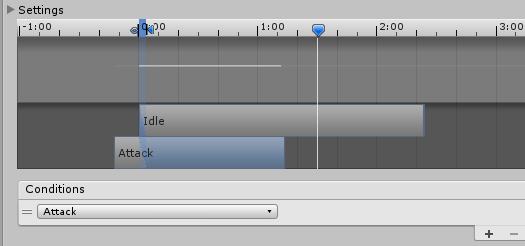 AnimatorControllerのブレンドを少なくする