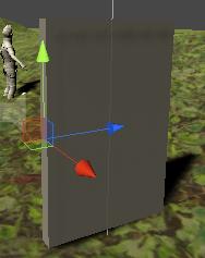 Doorを見た目の回転させる位置に移動