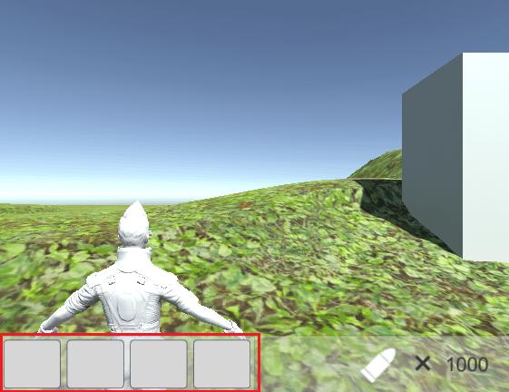 ゲームシーンにEquipPanelを作成した画像