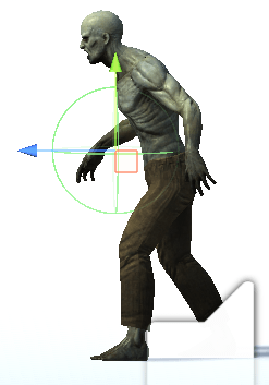 敵が主人公に抱きつく範囲の実際の画像