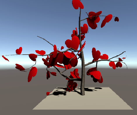 自作した木のサンプル