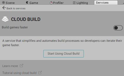 UnityCloudBuildをStart