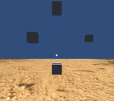 中央に小さい四角が表示された