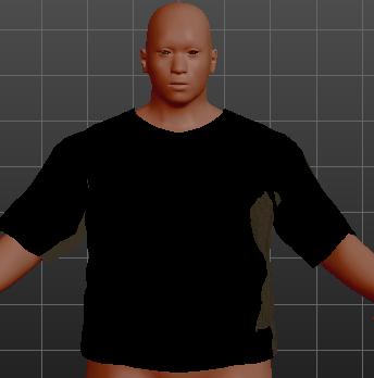 体型を変更すると服のサイズも変更される