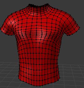Tシャツの形に編集が出来た