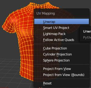 UVMapの作成