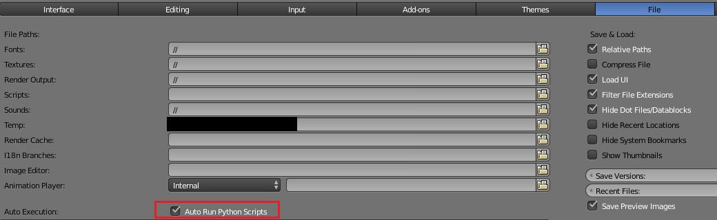Auto Run Python Scriptsにチェックを入れる
