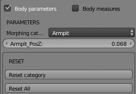 Bodyparametersの設定