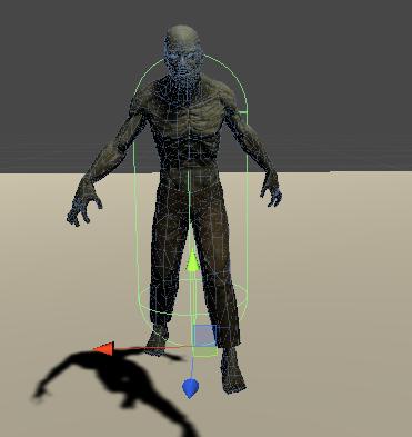 敵キャラクターを設置した画像