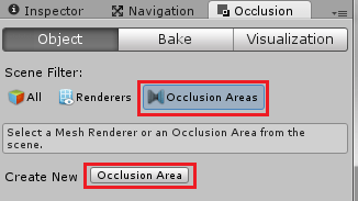 Occlusion CullingからOcclusion Areaを作成