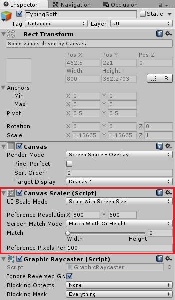 Canvas Scalerを変更する