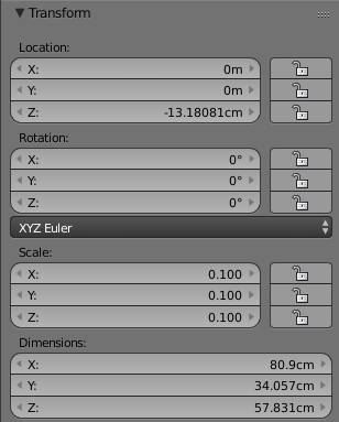 ScaleやRotation、位置を調整
