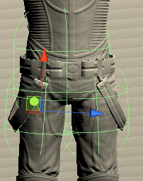 Clothに使う実際のコライダのサイズ
