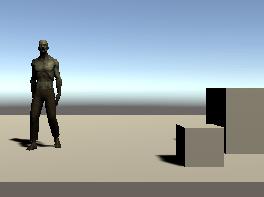 空のゲームオブジェクトの操作スクリプトで動かしたゾンビ
