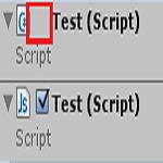 Unityのインスペクタでスクリプトのチェック項目が表示されない