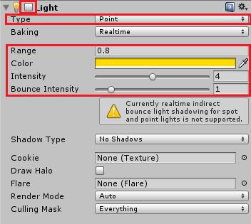 発砲の光を表現するLight