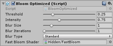 Bloom Optimizedを追加する
