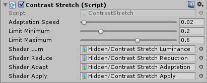 Contrast Stretchのインスペクタ