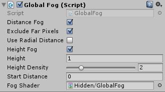 Global Fogで霧を発生させる