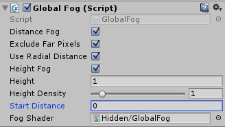 Global Fogの設定