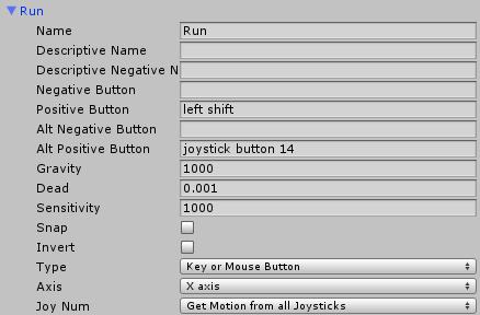 ゲームパッドの走るに対応したボタン