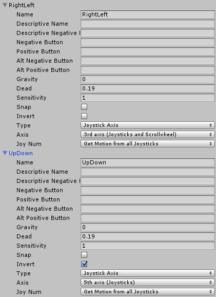 視点とキャラクターの角度の変更