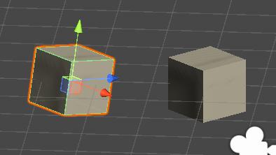 ゲームオブジェクトを回転するサンプルの図