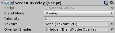 ScreenOverlayのインスペクタ