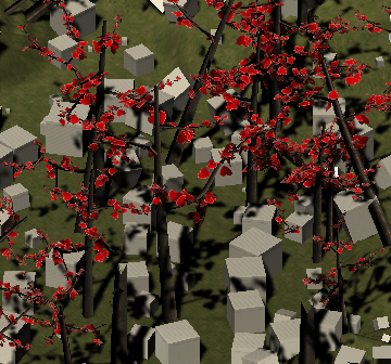 Cubeと木が設定された