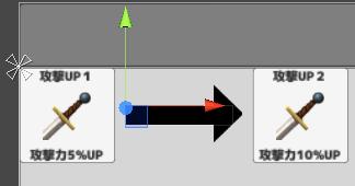 攻撃UP1から攻撃UP2までの遷移