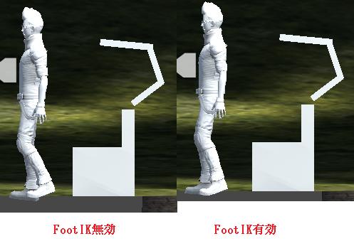 FootIKによって変わる立ちあがる時のアニメーション