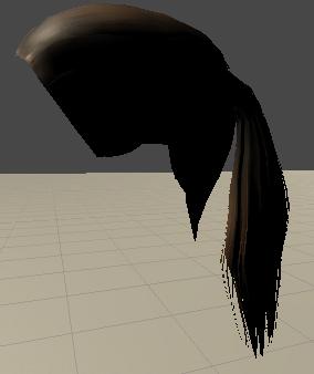 髪の毛のメッシュ