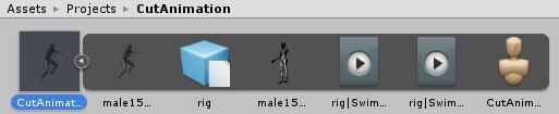 Unityに取り込んだモデル付きアニメーション