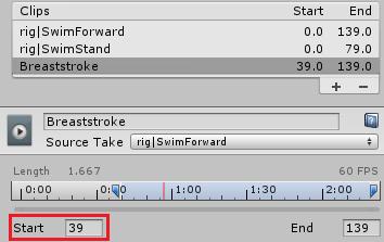 アニメーションのStartフレーム数を変更する