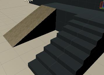 坂のマテリアルを適用したサンプル