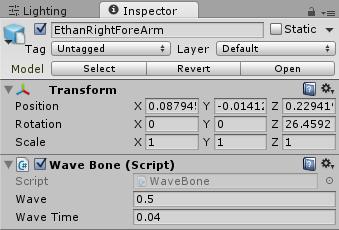 WaveBoneの設定値