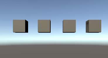 Cubeを複製して横に並べる