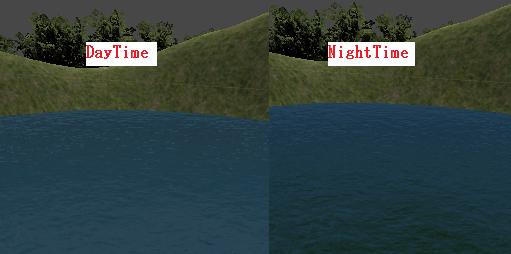 WaterDaytimeとWaterNighttimeの比較