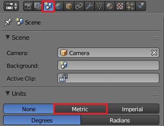 Blenderをメートル表示にする