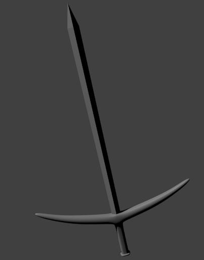 モデリングした剣