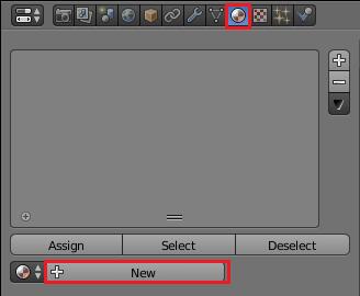 Blenderで新しいマテリアルを作成する