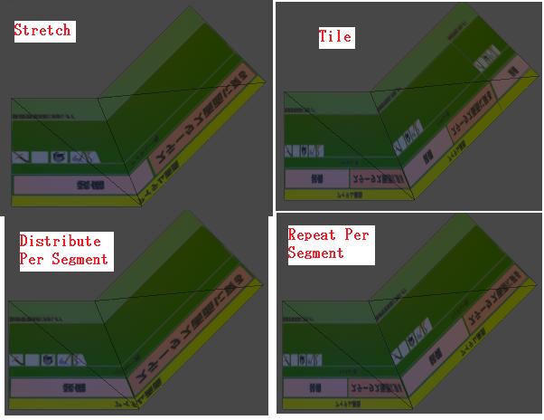 LineRendererのTextureModeの設定項目を変更