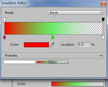 LineRendererのColor設定