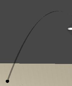 弾の軌跡を表示した画像