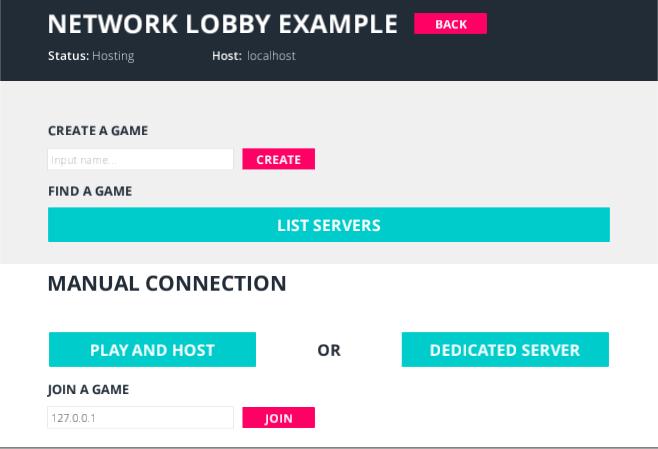 LobbyManagerのメイン画面