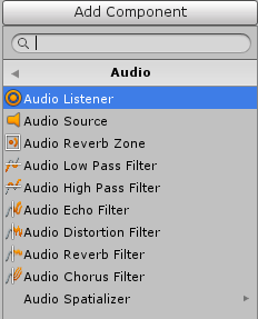 AudioFilterの種類