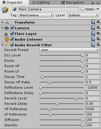 AudioReverbFilter