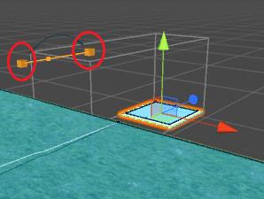 NavMeshLinkのスタート地点とエンド地点が四角で表示される