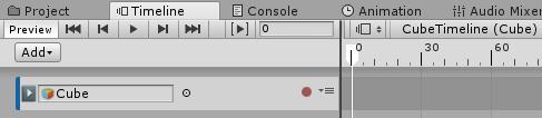AnimationClipにCubeゲームオブジェクトをドラッグ&ドロップ